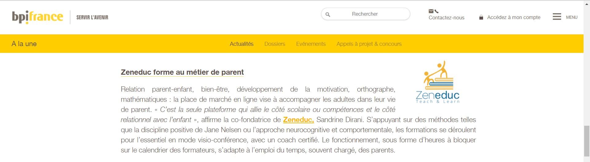 Zeneduc : l'une des start-up françaises qui dessinent l'éducation du futur pour la BPI